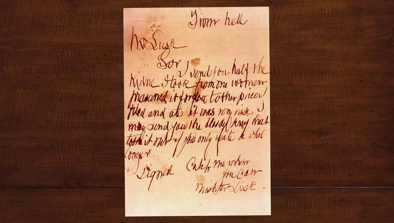 Письмо джека Потрошителя