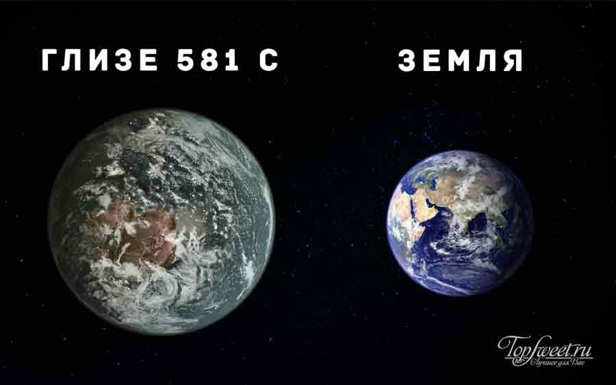 earth compared to gliese 581 c - photo #11