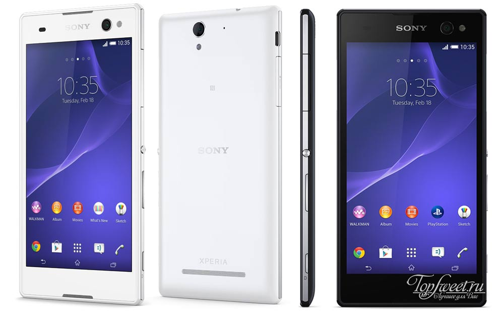 Sony Xperia C3. Топ 6 лучших смартфонов для Селфи