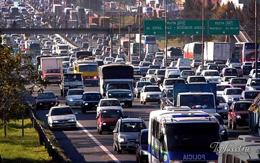 Города с худшим движением. Буэнос Айрес