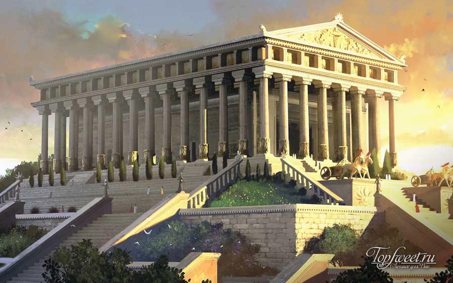 Визуализация храма Артемиды
