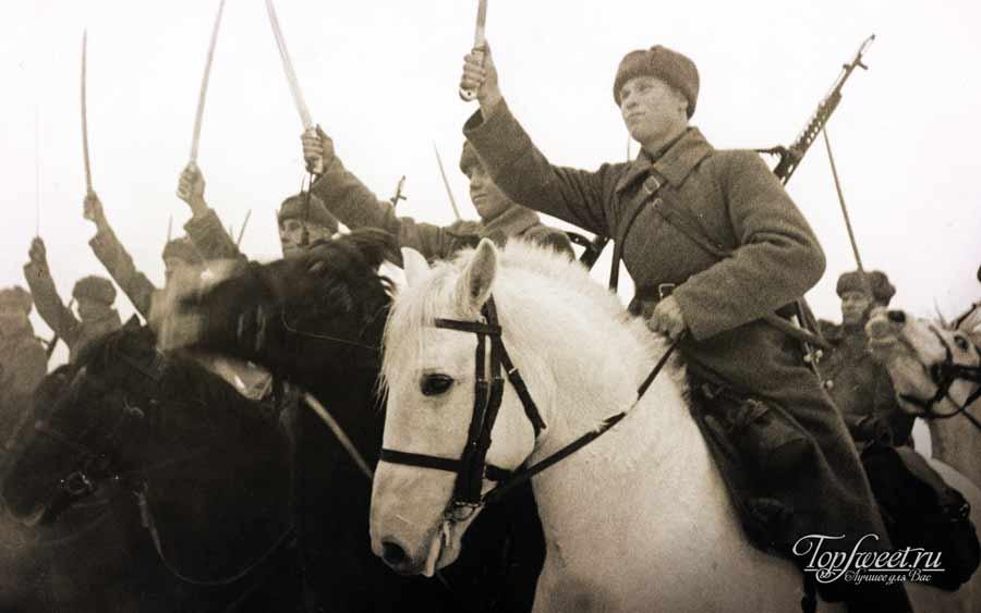Советская кавалерия во время битвы за Москву