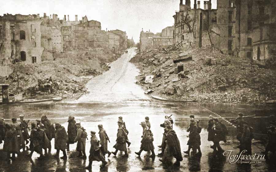 Советские солдаты на Крещатике