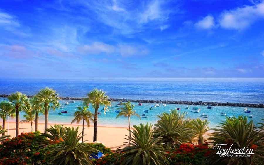 Райский пляж в Санта-Крус