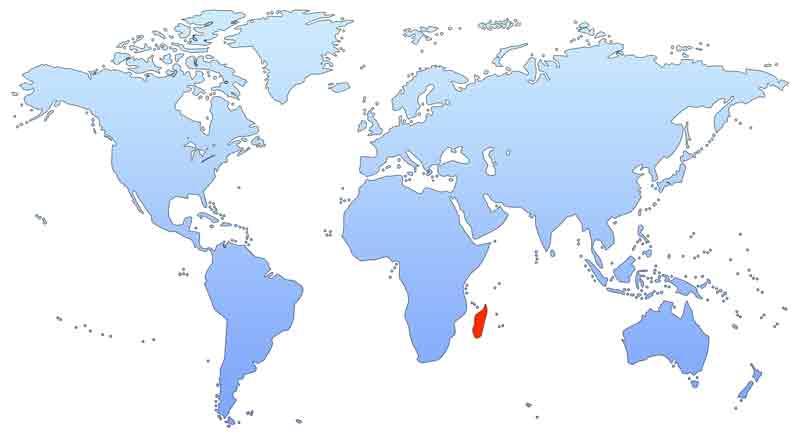 Мадагаскар на карте