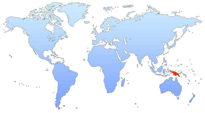 Новая Гвинея на карте