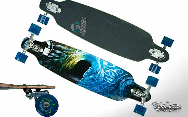 Sector 9 Aperture Sidewinder Drop Through Downhill/Cruiser Freeride Complete Longboard 36""