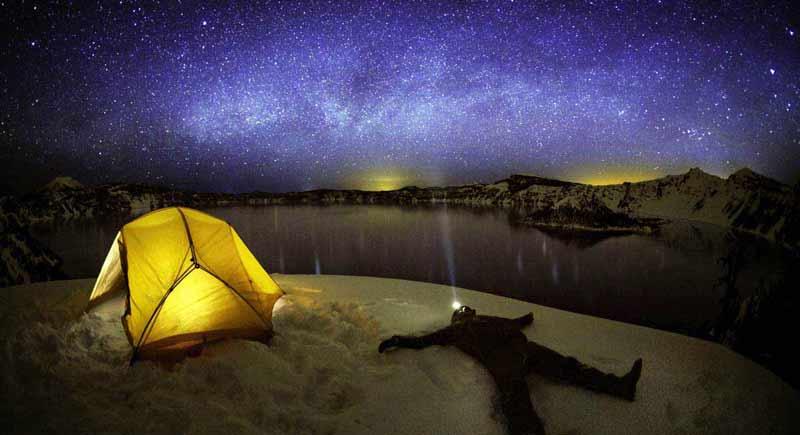 В палатке на снегу