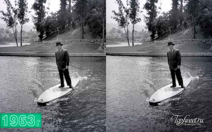 Доска для серфинга с мотором, 1948 год