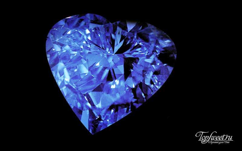 Сердце вечности. Фото дорогих бриллиантов