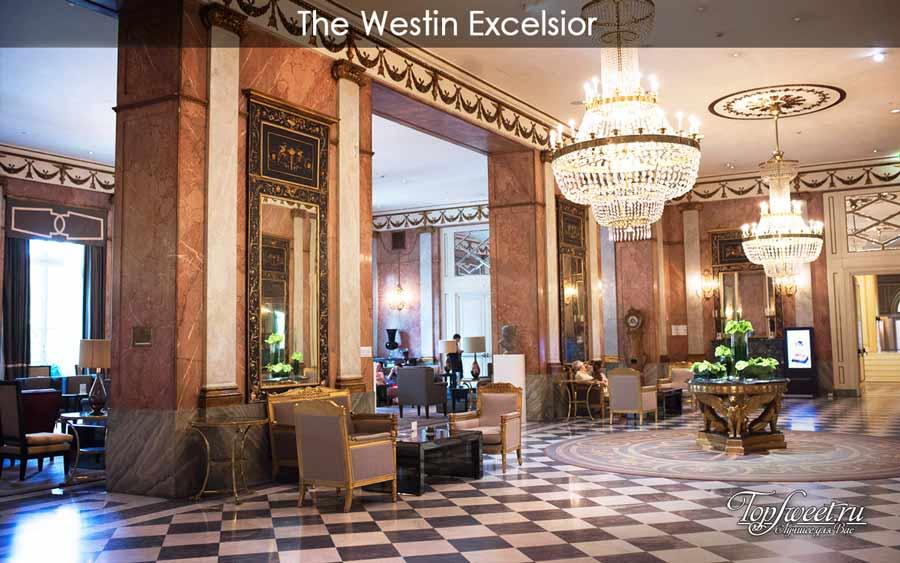 интерьеры в отеле The Westin Excelsior