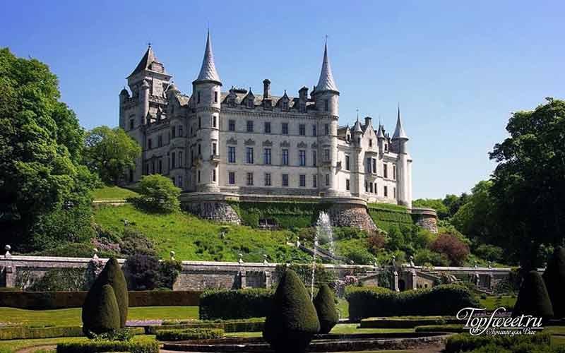 Замок Данробин, Шотландский замок