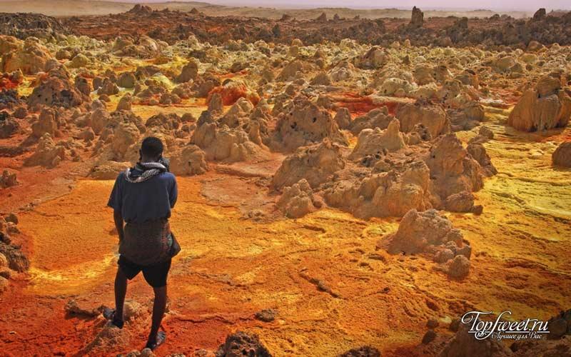 Даллол, Эфиопия. Рейтиег экстремальных мест