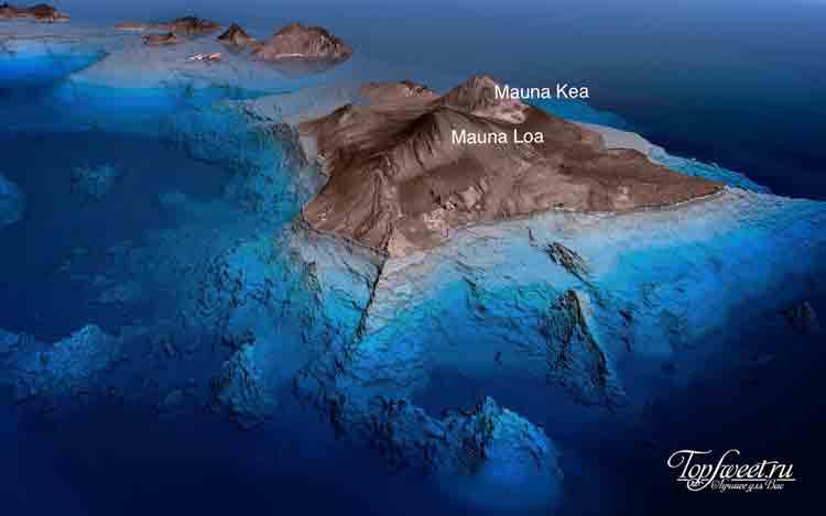На фото: потухший вулкан Мауна-Кеа