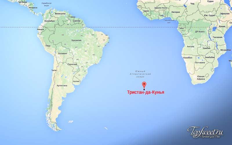 Тристан-да-Кунья. Экстремальные места планеты