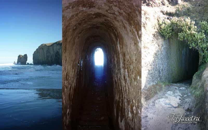 Туннельный пляж. Самые необычные пляжи в мире