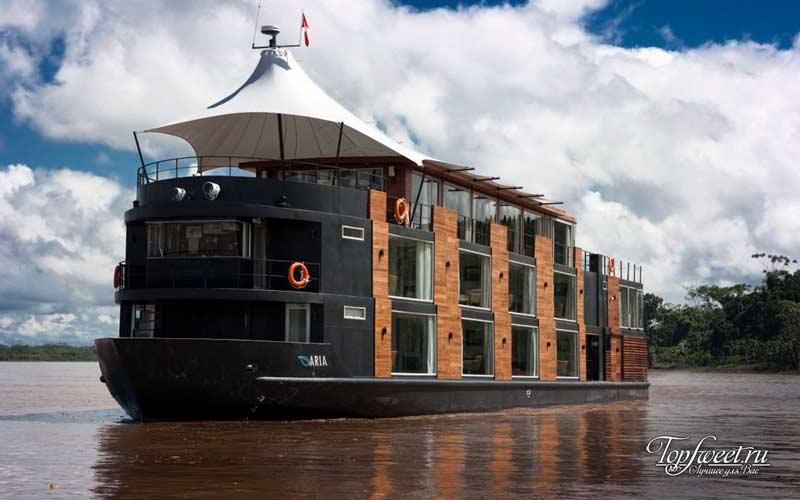 Aria Amazon. Уникальные отели на воде