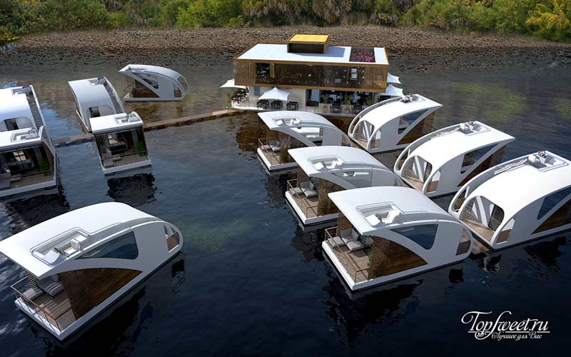 Floating Hotel with Catamaran