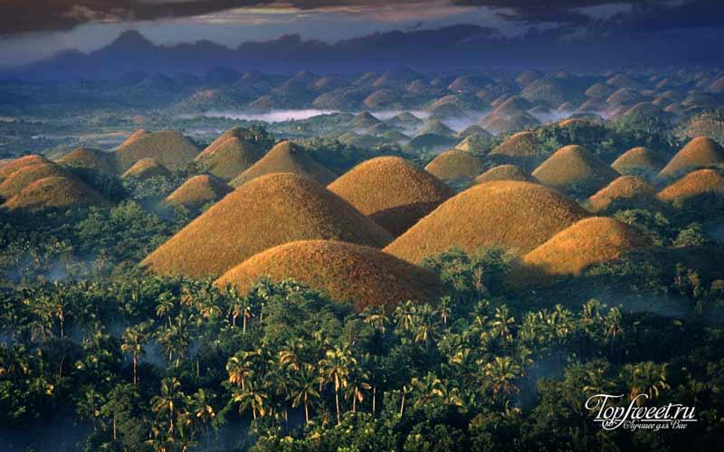 Шоколадные горы. Геологические достопримечательности Земли
