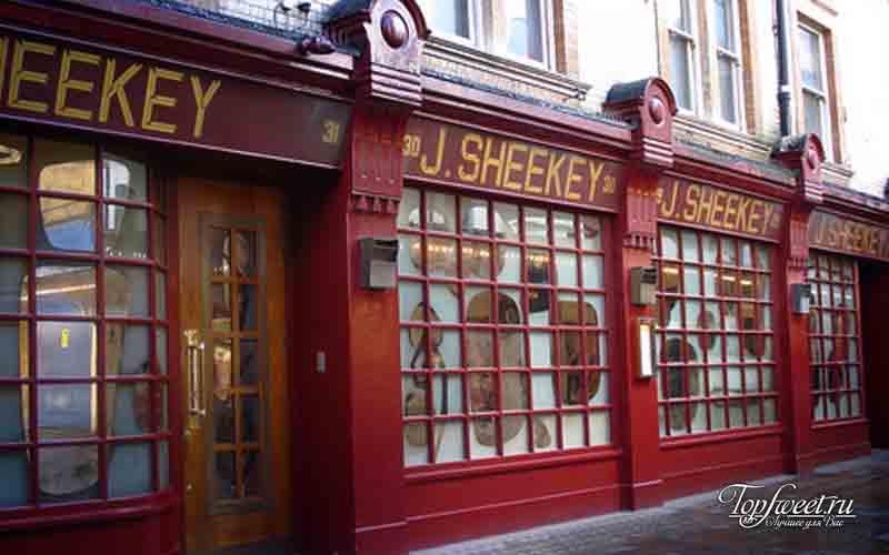 Sheekey London. 10 популярных европейских ресторанов