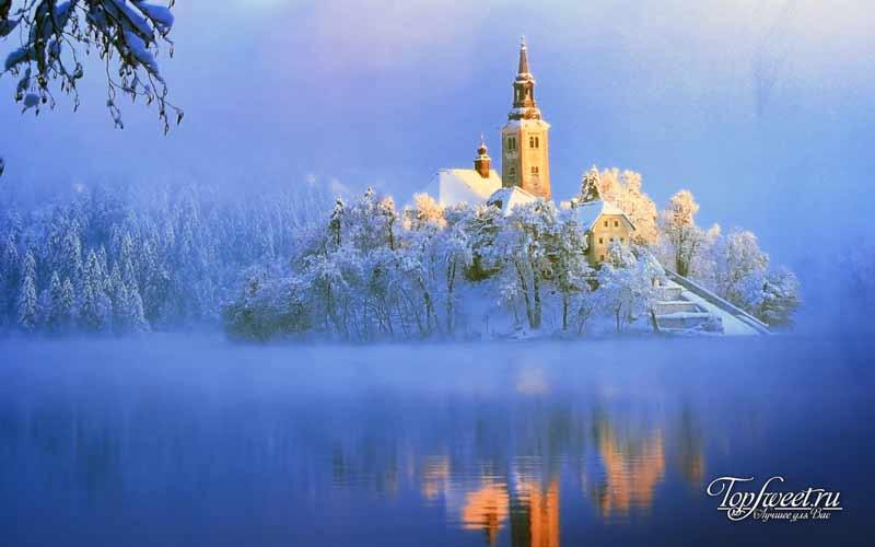 Блед зимой. Необычайно красивые деревни Европы