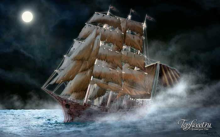 Калеуче. Корабли-призраки. ТОП-10 загадочных кораблей