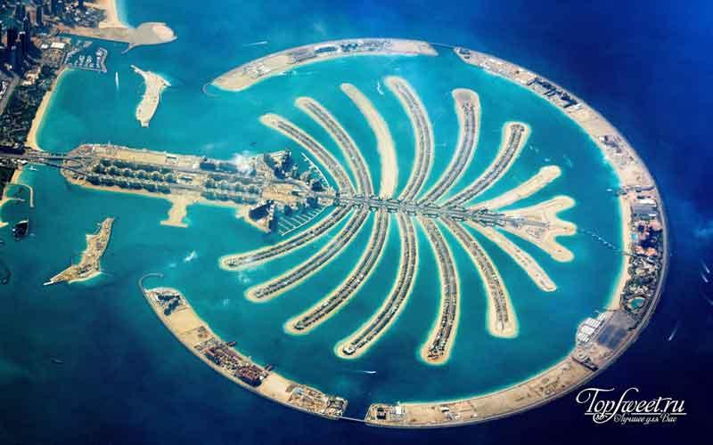 Острова Пальм из космоса