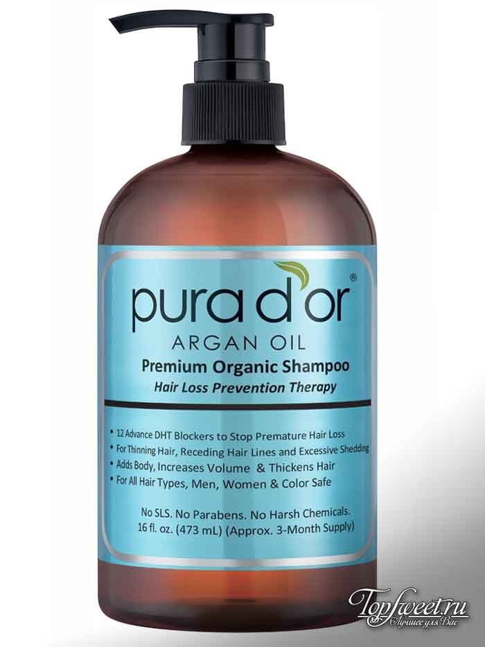 PURA D'OR Hair Loss Prevention Premium Organic Argan Oil Shampoo