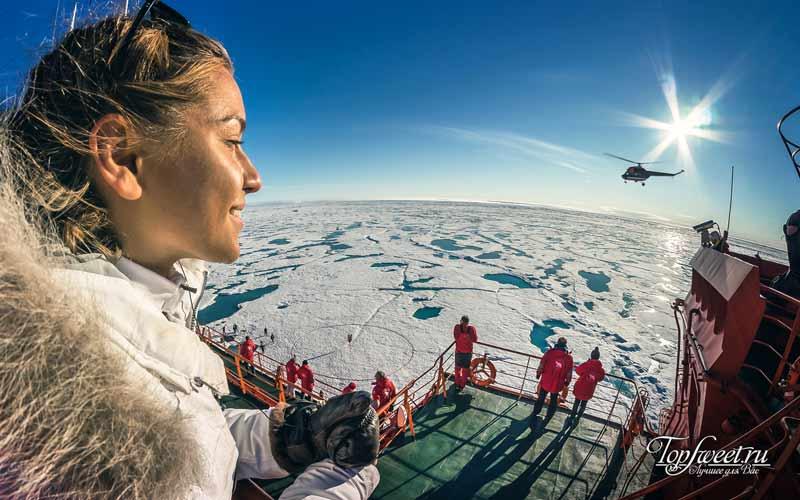 Тур на Северный Полюс. Экстремальный туризм в России