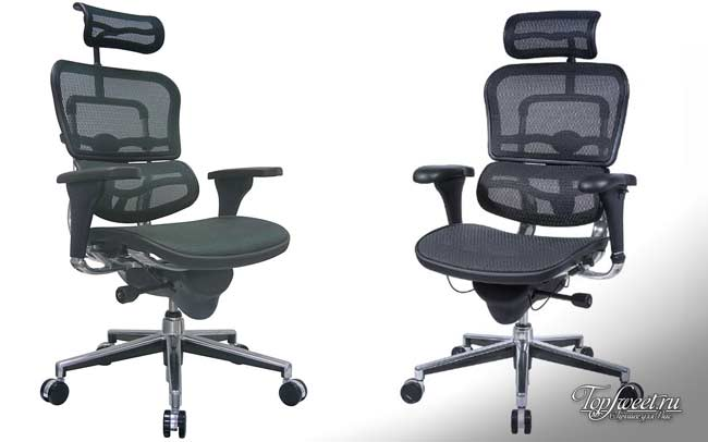 Black Mesh Hi Swivel Chair