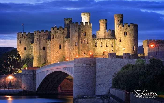 Conwy Castle, Wales. Самые красивые замки мира. ТОП-10