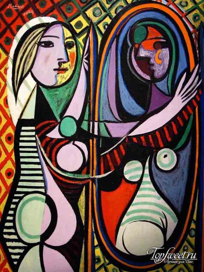 Девушка перед зеркалом. ТОП-10 Самые известные картины Пикассо