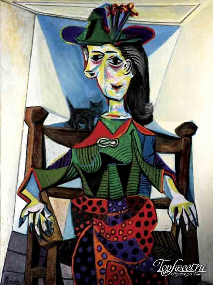 Дора Маар с кошкой. ТОП-10 самых известных картин Пикассо