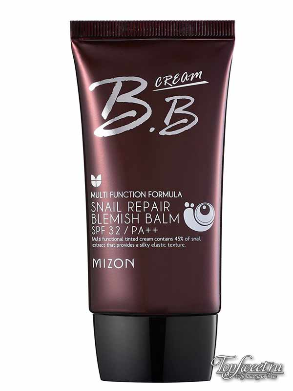 Mizon Korean Cosmetics Snail Repair Blemish Balm. ТОП-10 лучших корейских BB-кремов