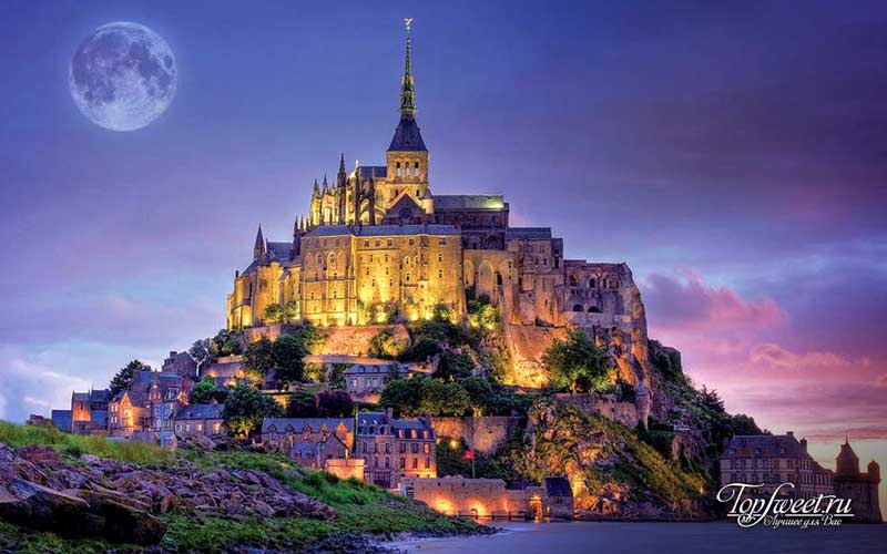 Mont Saint Michel. Самые красивые замки мира. ТОП-10