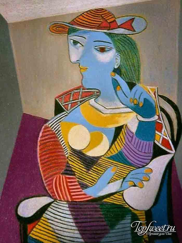 Сидящая женщина. Мария Тереза Вальтер. ТОП-10 самых известных картин Пабло Пикассо