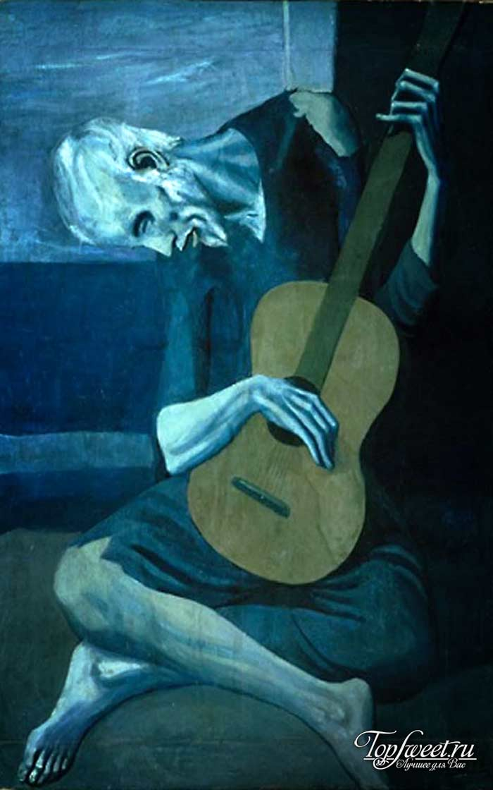 Старый гитарист. ТОП-10 Самые известные картины Пабло Пикассо