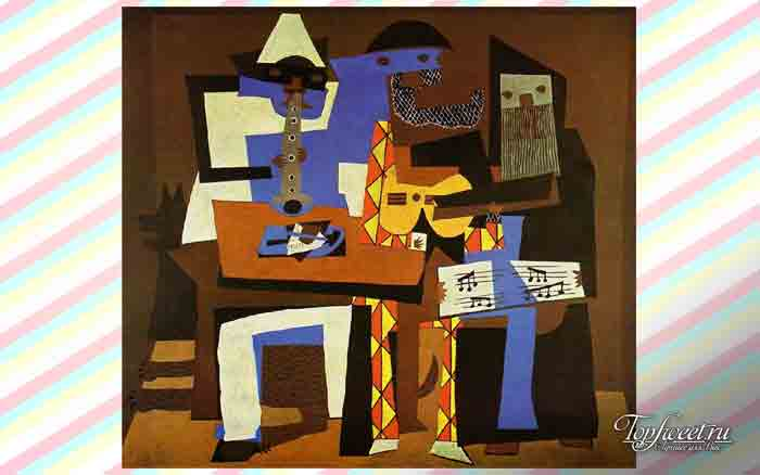 Три музыканта. ТОП-10 Самые известные картины Пикассо