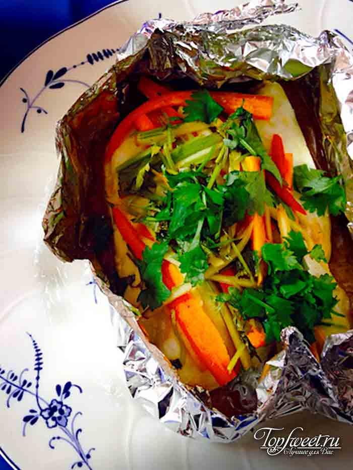 Тайская рыба в фольге