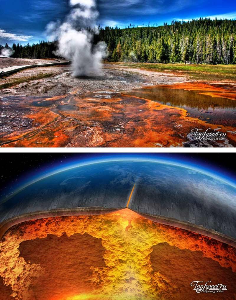 Йеллоустонская кальдера. Самый опасный вулкан