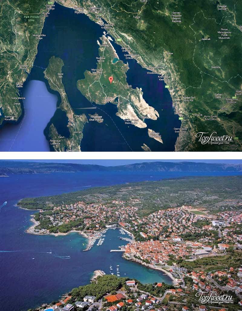 Крк. Красивый остров в Хорватии