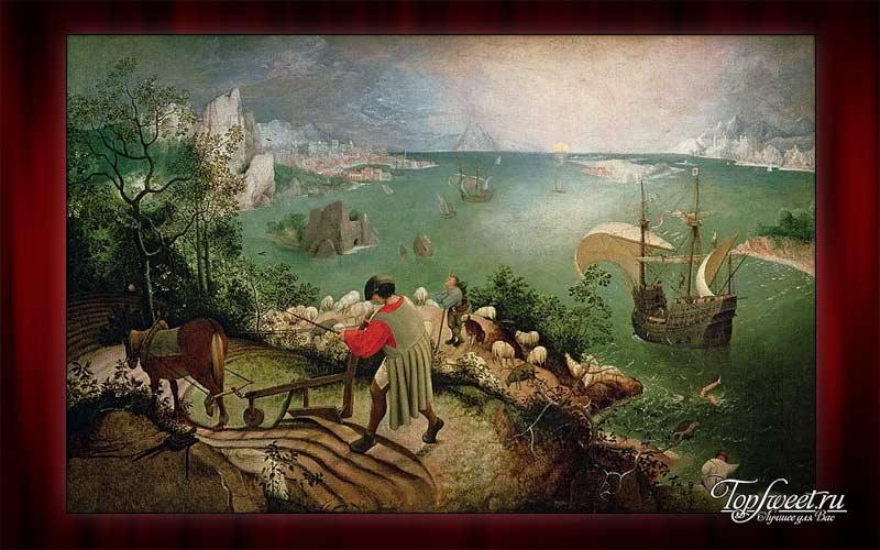 «Пейзаж с падением Икара», Питер Брейгель