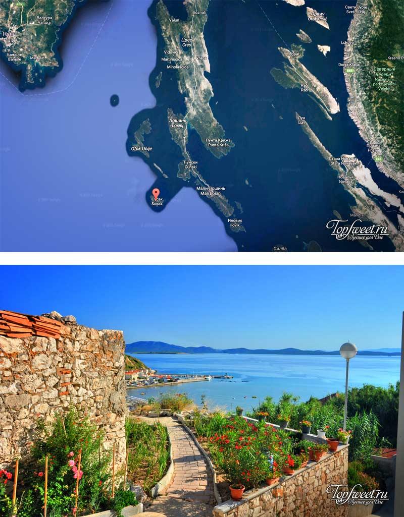Сусак. самые красивые острова Хорватии