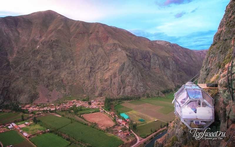 Skylodge Adventure Suites. Самые необычные отели в Перу