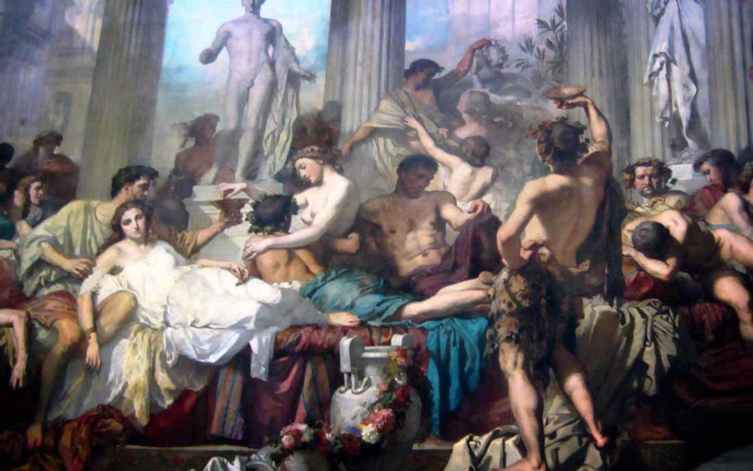 смотреть оргии в древнем мире ролики сексапильными блондинками