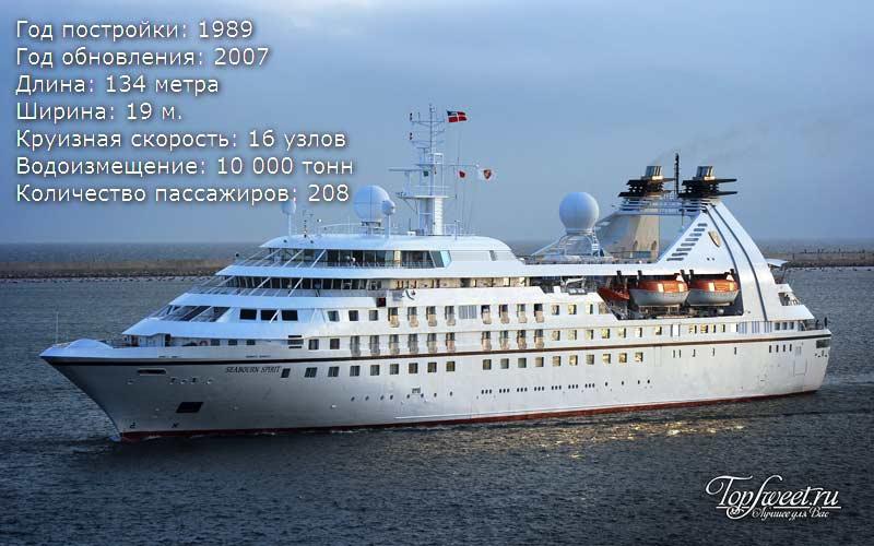 Круизный лайнер Seabourn Spirit